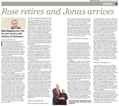 Rose retires and Jonas arrives